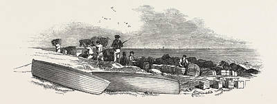 Removal Of The Ships Stores From The Landing Place Poster by English School