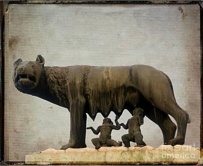 Remus And Romulus Poster by Bernard Jaubert