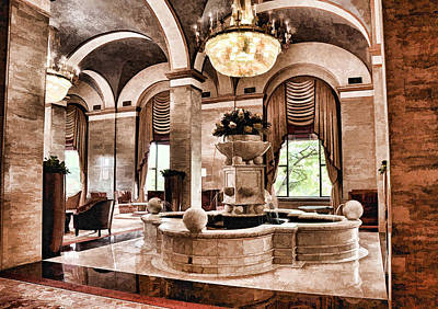 Poster featuring the photograph Renaissance Cleveland Hotel - 1 by Mark Madere