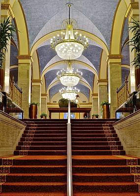 Renaissance Hotel Corridor Poster by Frozen in Time Fine Art Photography