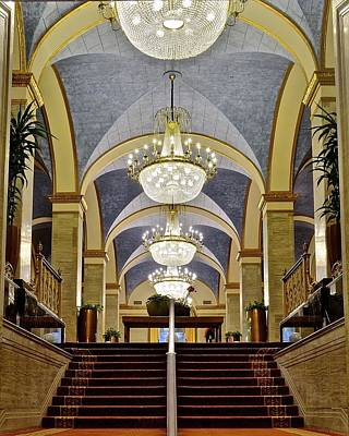 Renaissance Hotel Staircase Poster by Frozen in Time Fine Art Photography