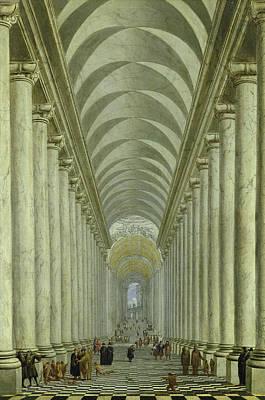 Renaissance Indoor Staircase Poster by Wilhelm Ehrenberg