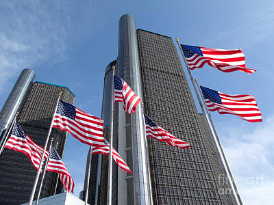 Rencen And Flags Poster