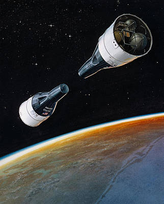 Rendezvous Mission, Gemini 6 And 7, 1965 Poster by Science Source