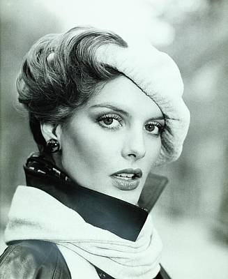 Rene Russo Wearing A Beret And Muffler Poster by Francesco Scavullo