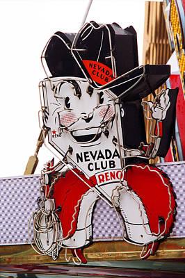 Reno - Old Nevada Club Poster by Frank Romeo