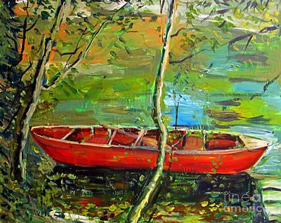 Renoirs Canoe Poster