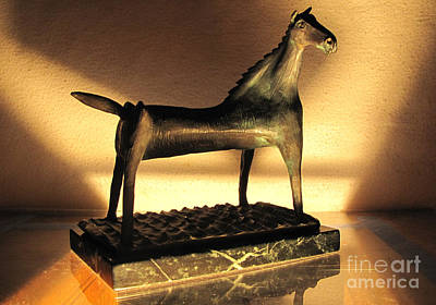rephotographed SEA MARE Original bronze sculpture Limited Edition of 3 sculptures Poster by Charlie Spear