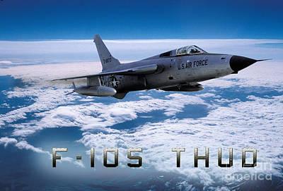 Republic F-105 Thunderchief Poster