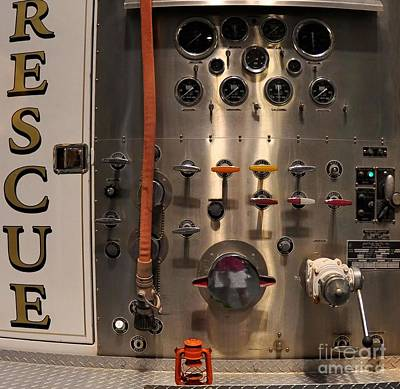 Rescue - Valves - Fire Truck Poster by Liane Wright