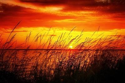 Reservoir Sunset 3 Poster