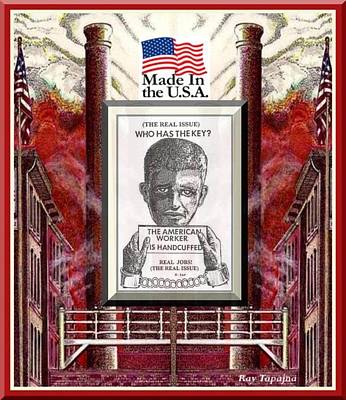 Poster featuring the digital art Reshoring The American Dream by Ray Tapajna