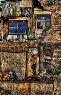 Residences On A Hill  In Jerome Arizona Poster by Joanne Beebe