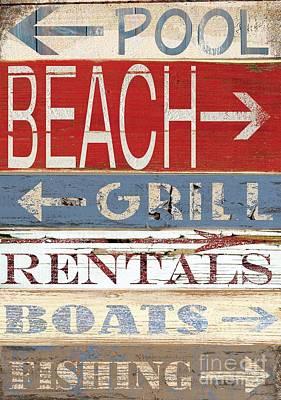 Resort Beach Sign Poster by Grace Pullen