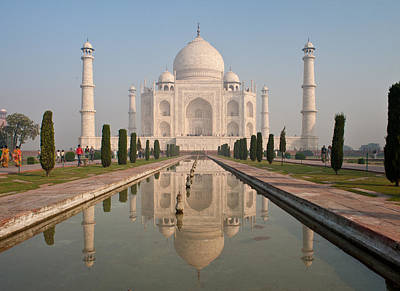 Resplendent Taj Mahal Poster by Mike Reid