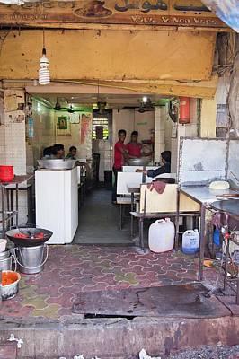 Restaurant In Dharavi Slum Poster by Mark Williamson