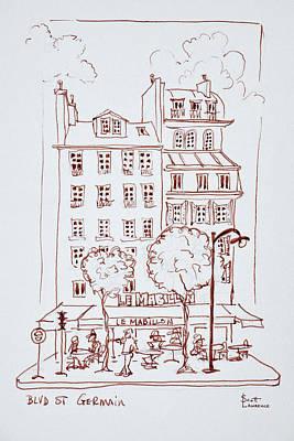 Restaurant On Boulevard Saint-germain Poster