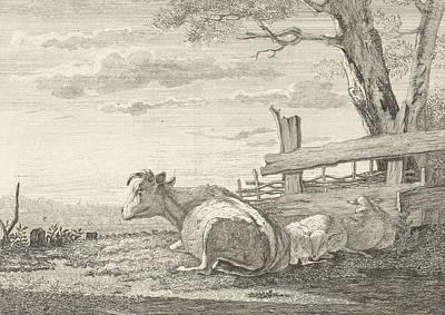 Resting Cattle In A Landscape, Christiaan Godfried Schutze Poster by Artokoloro