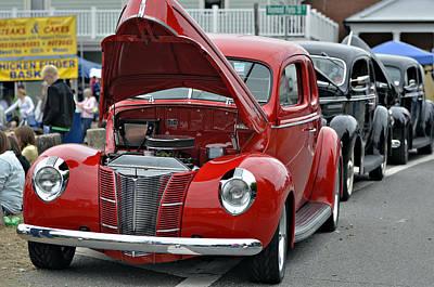 Restored Classic Cars Poster by Susan Leggett