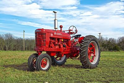 Restored Farmall Tractor Poster
