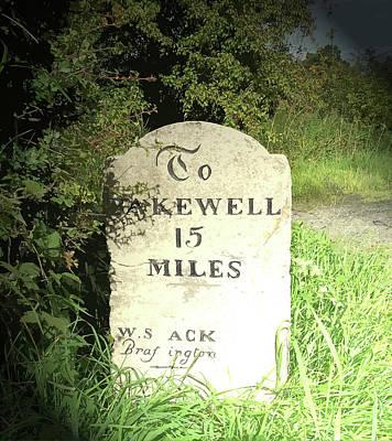 Restored Milestone Near Woodeaves Mill, Several Milestones Poster
