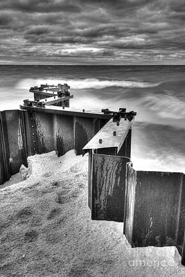 Retaining Walls At Point Betsie Poster by Twenty Two North Photography