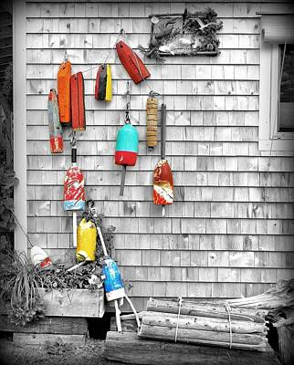 Retired Buoys Poster by Jean Goodwin Brooks