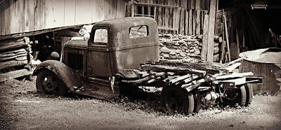 Retired Dodge Truck Poster by Stephen Stookey