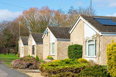 Retirement Bungalows Poster by Tom Gowanlock
