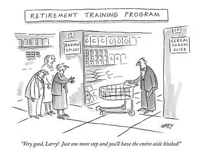 'retirement Training Program' Very Good Poster by Kim Warp