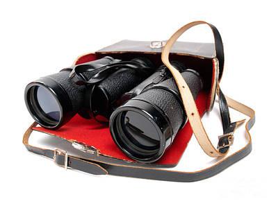 Retro Binoculars Poster by Sinisa Botas
