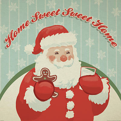 Retro Christmas X Poster by Janelle Penner