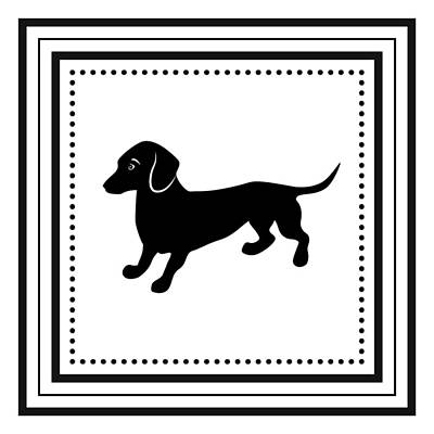 Retro Dachshund Poster by Antique Images