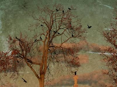 Retro Gothic Sky Poster