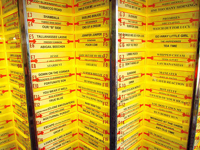 Retro Yellow Jukebox Music Poster by Diane McElhaney