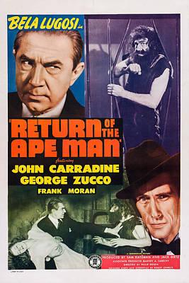 Return Of The Ape Man, Us Poster, Bela Poster by Everett
