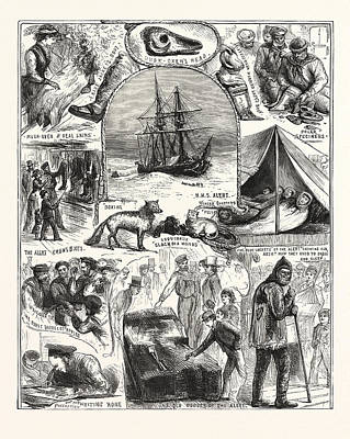 Return Of The Arctic Expedition, Sketches On Board Poster