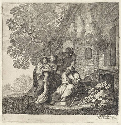 Return Of The Holy Family From Egypt, Moyses Van Wtenbrouck Poster