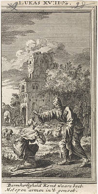 Return Of The Prodigal Son, Jan Luyken, Anonymous Poster by Jan Luyken And Anonymous