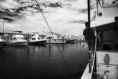 Returning Charter Fishing Boat Charter Boat Row City Marina Key West Florida Usa Poster