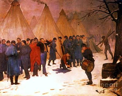 Reveille On A Winter Morning Poster by Pg Reproductions