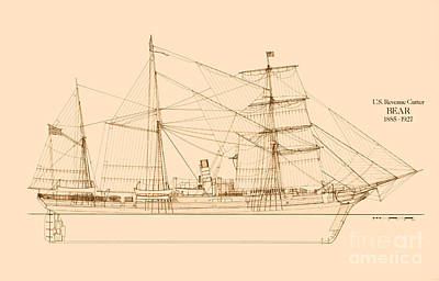 Revenue Cutter Bear Poster by Jerry McElroy - Public Domain Image