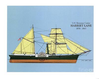 Revenue Cutter Harriet Lane Poster by Jerry McElroy - Public Domain Image