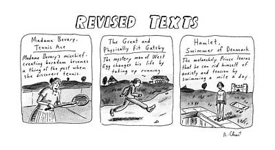 Revised Texts Poster by Roz Chast