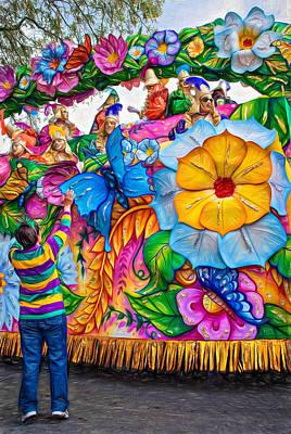 Rex Mardi Gras Parade - Paint Poster by Steve Harrington
