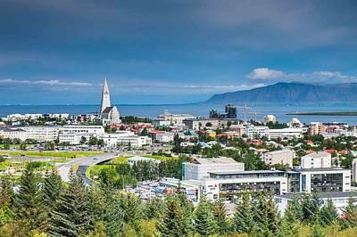 Reykjavik Iceland Panorama Poster