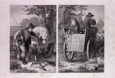 Reynard And The Fish Cart Poster