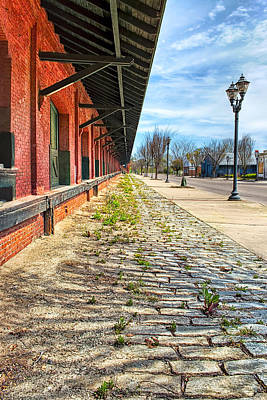 Reynolds Street View - Southern Railway Depot In Augusta Poster
