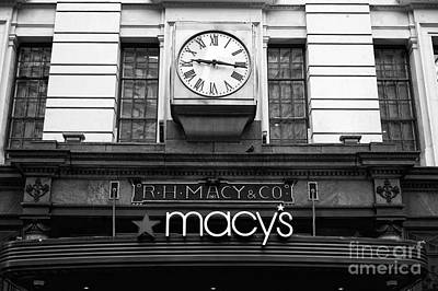R.h. Macy And Co. Mono Poster by John Rizzuto