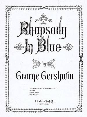 Rhapsody In Blue Poster by Mel Thompson